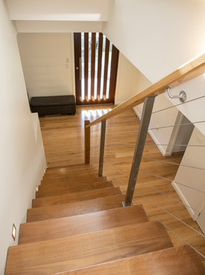 Timber Stairs and Landing